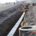Устройство кабельной канализации в разделительной полосе